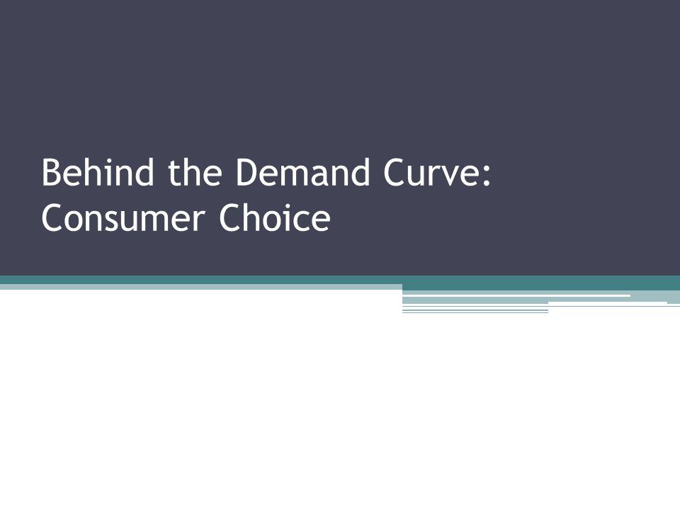 Behind the Demand Curve: Consumer Choice