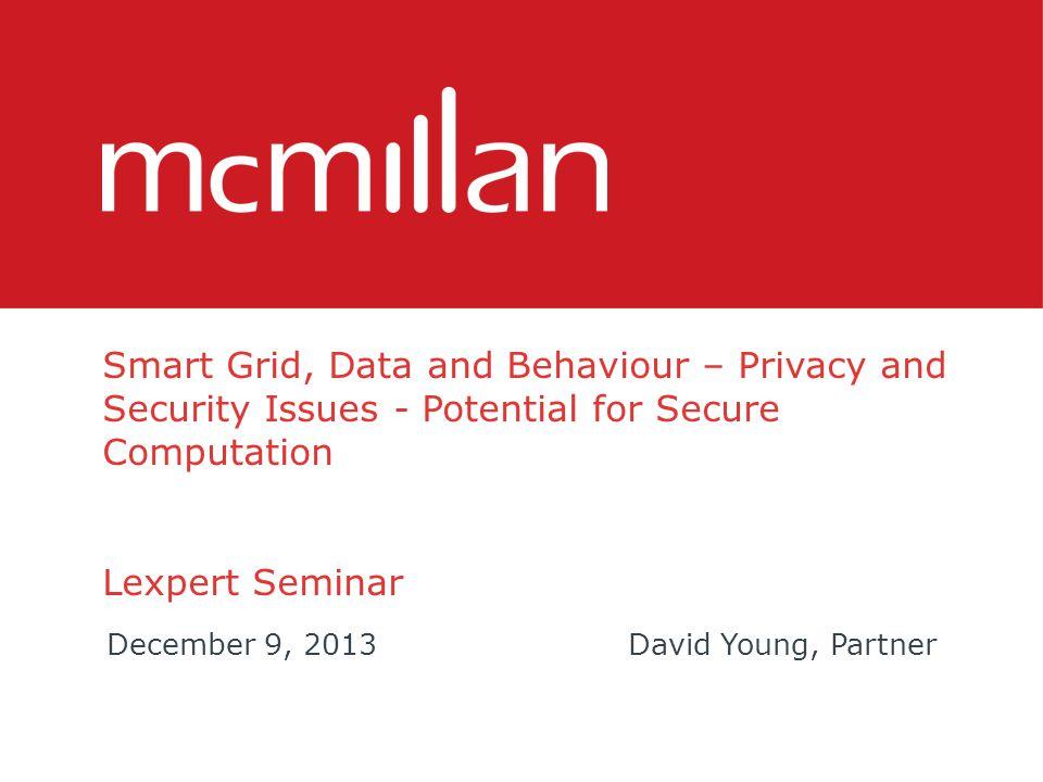 Smart Grid Data – Personal Information.