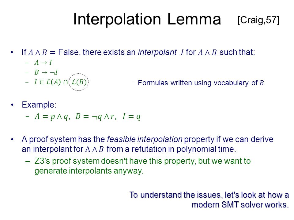 Eliminating local derivations Simplifications in pre-processing can introduce large local derivations.