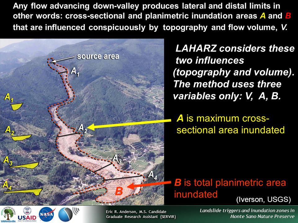 Landslide triggers and inundation zones in Monte Sano Nature Preserve Inundation hazard zones (Iverson, USGS)