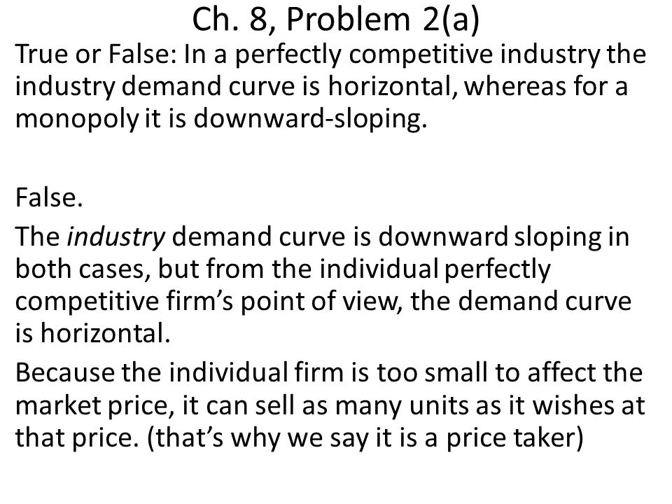 Ch.8, Problem 9 (e) Suppose you are a monopolist in the market for a specific video game.