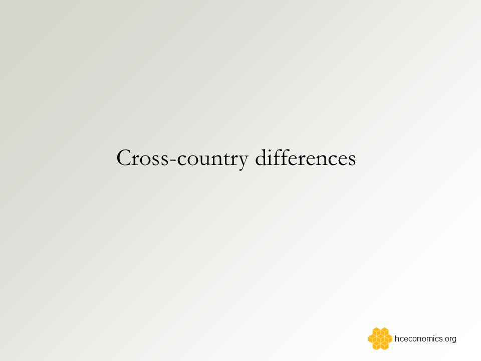 Cross-country differences hceconomics.org