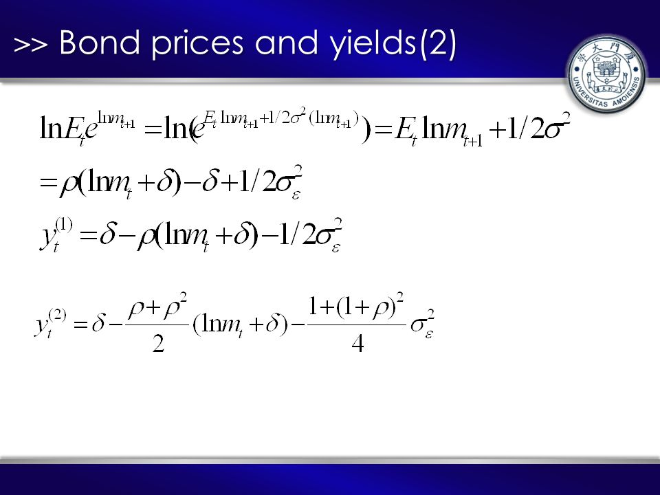 >> Bond prices and yields(2)