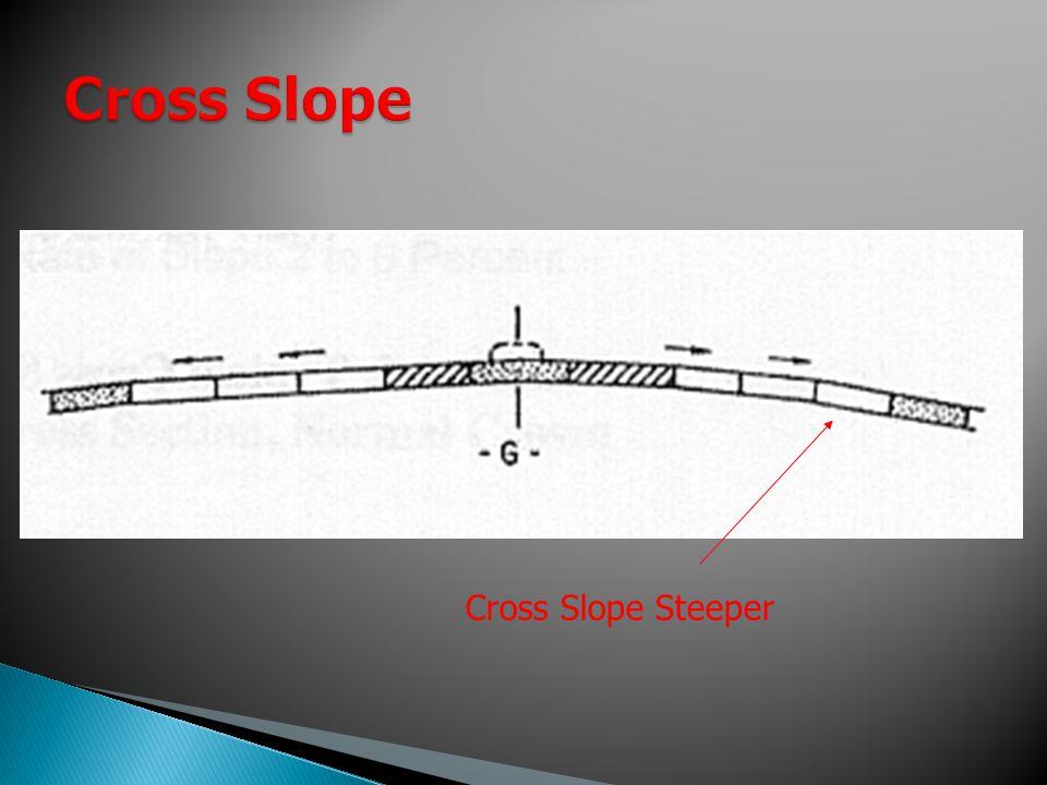 Cross Slope Steeper