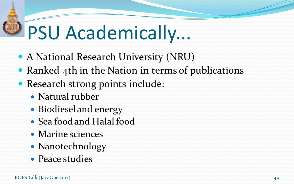 PSU Academically... A National Research University (NRU) Ranked 4th in the Nation in terms of publications Research strong points include: Natural rub