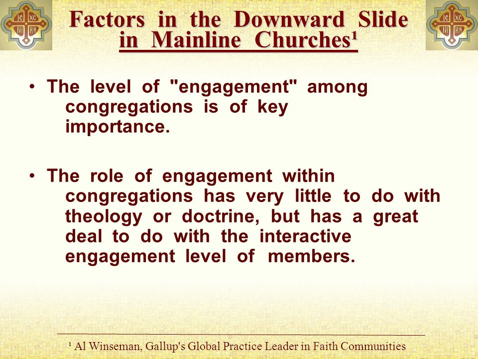 The level of engagement among congregations is of key importance.