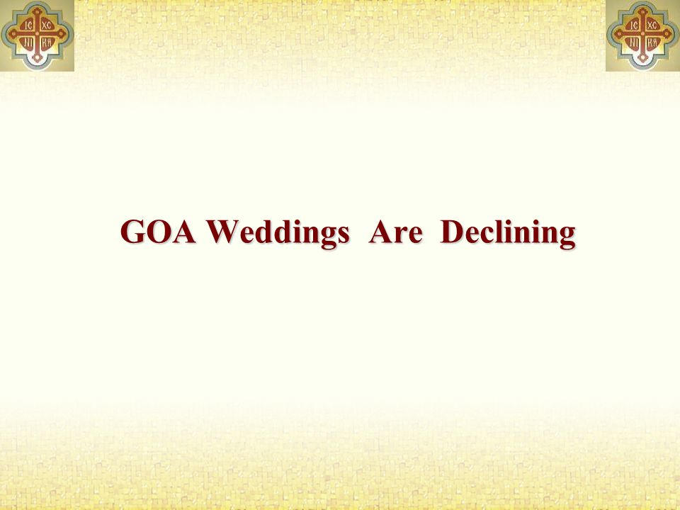 GOA Weddings Are Declining