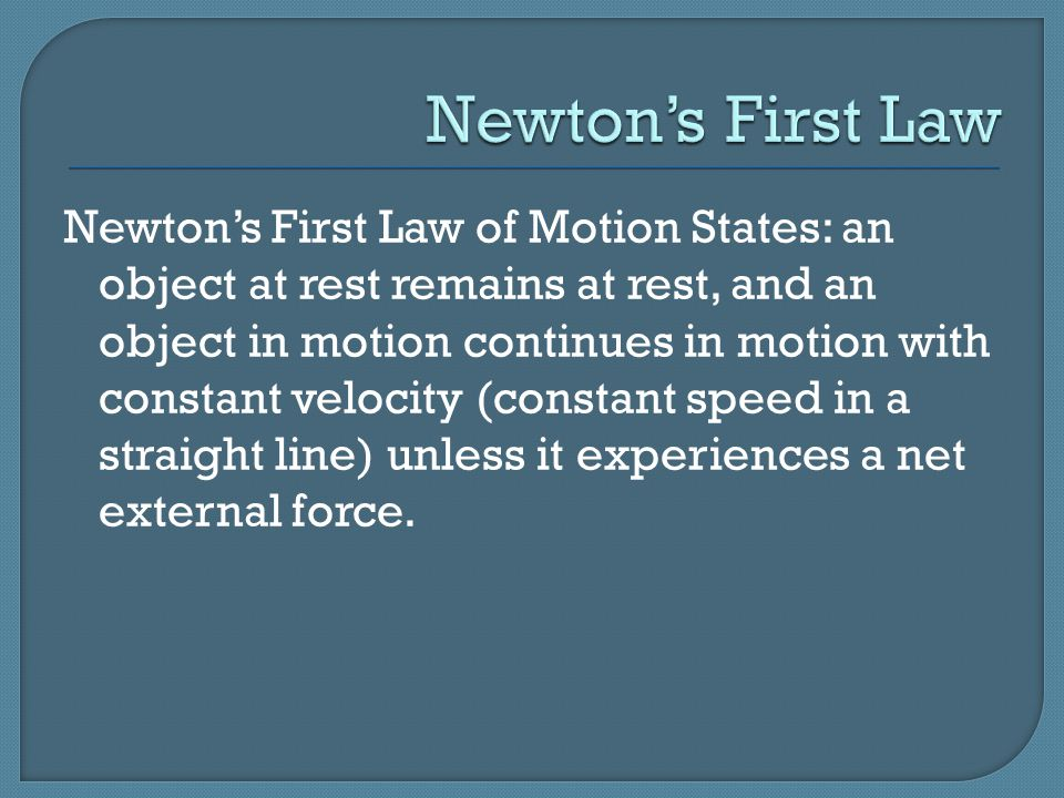 The net external force is the total force resulting from a combination of external forces on an object.