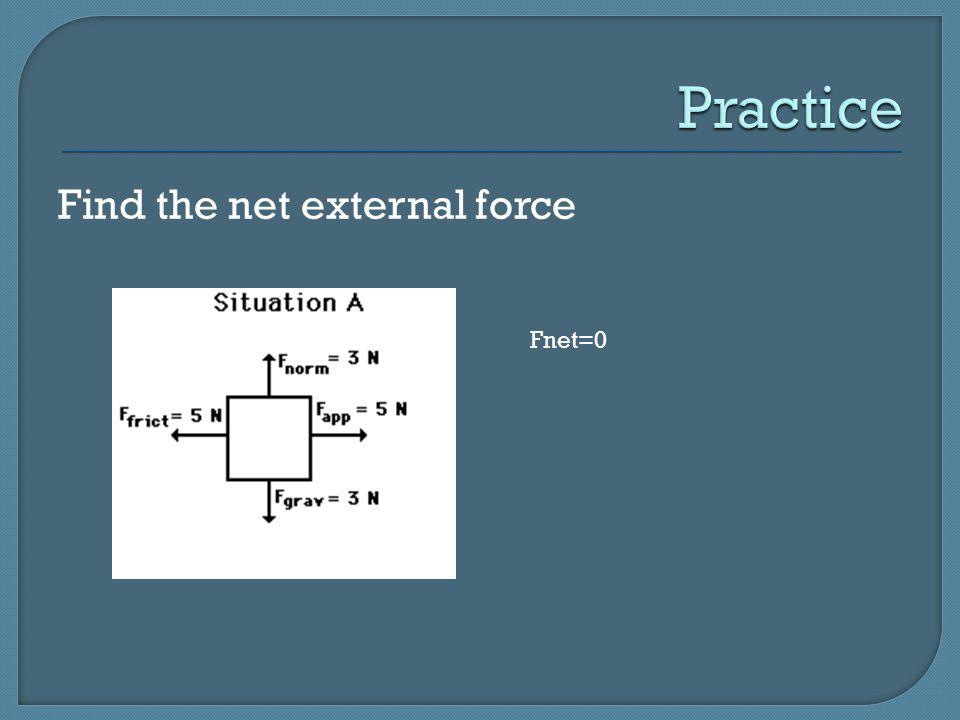 Find the net external force for each A= 50 N B= 200N C=1100 N D= 20 N E= 300N F= x G= 50N H= x