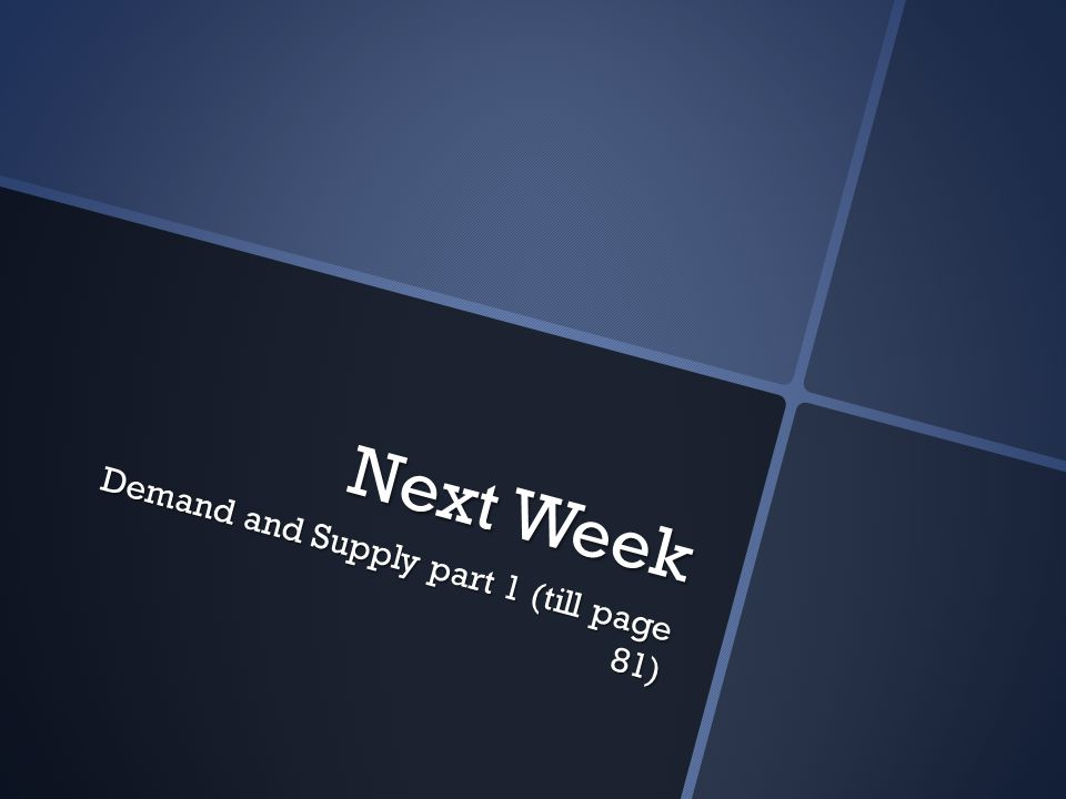 Next Week Demand and Supply part 1 (till page 81)