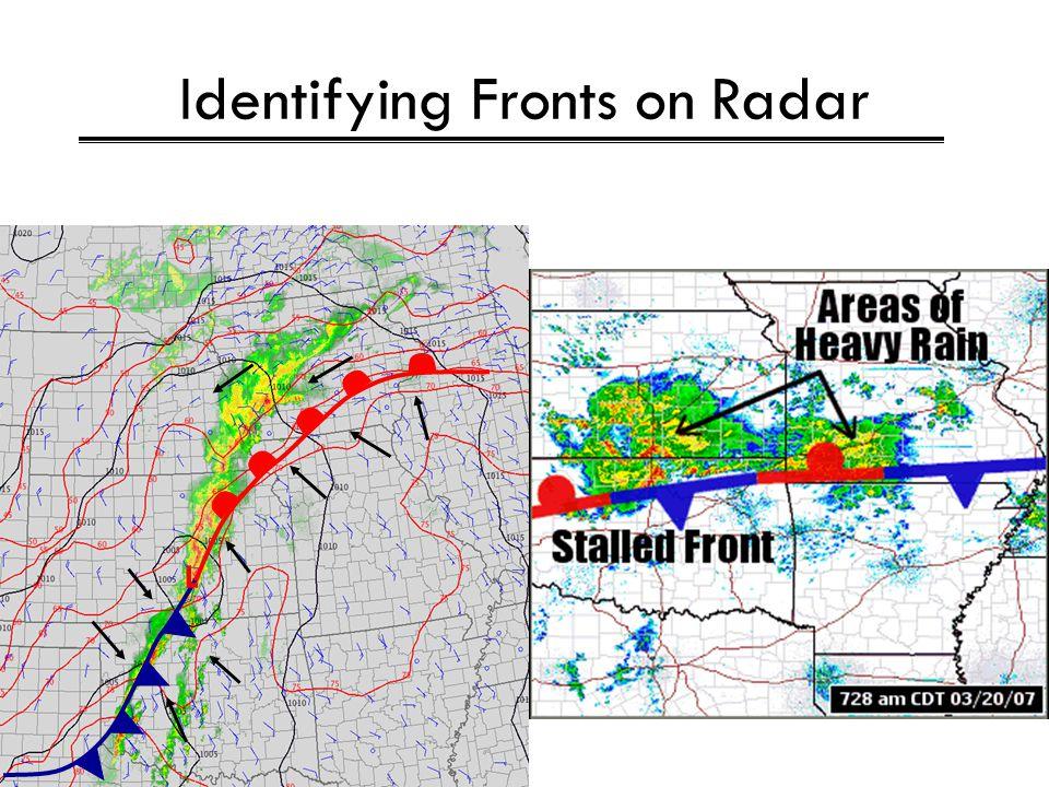 Identifying Fronts on Radar L