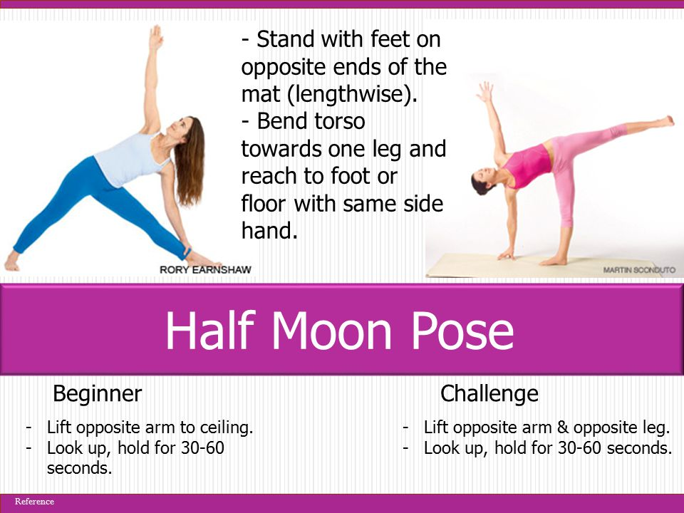 BeginnerChallenge -Lift opposite arm to ceiling. -Look up, hold for 30-60 seconds.