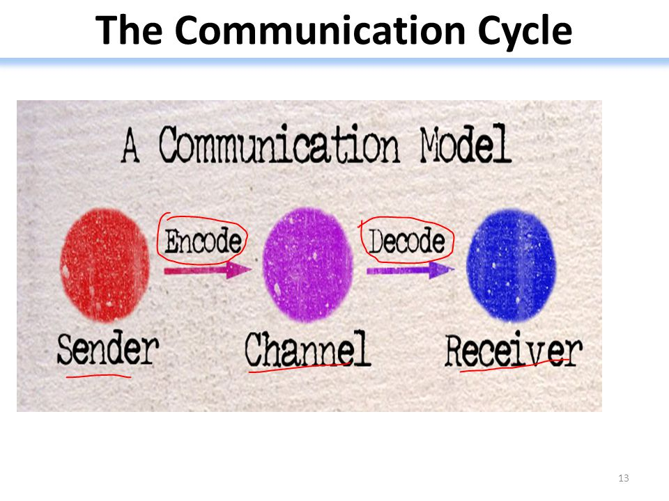 The Communication Cycle 13