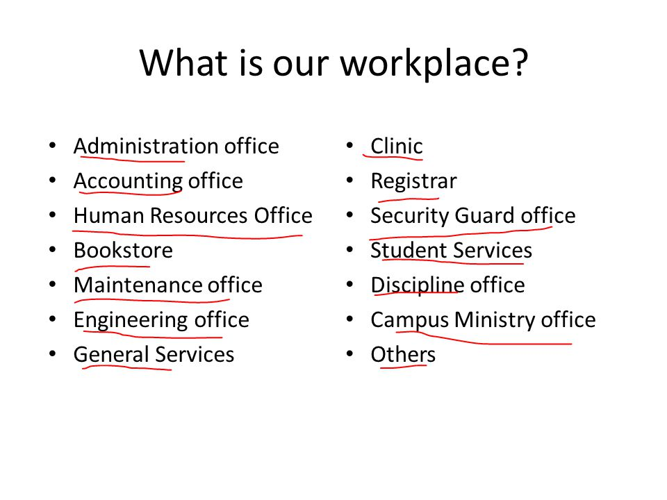 What is our workplace.