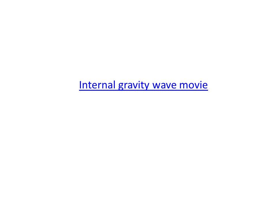 Internal gravity wave movie