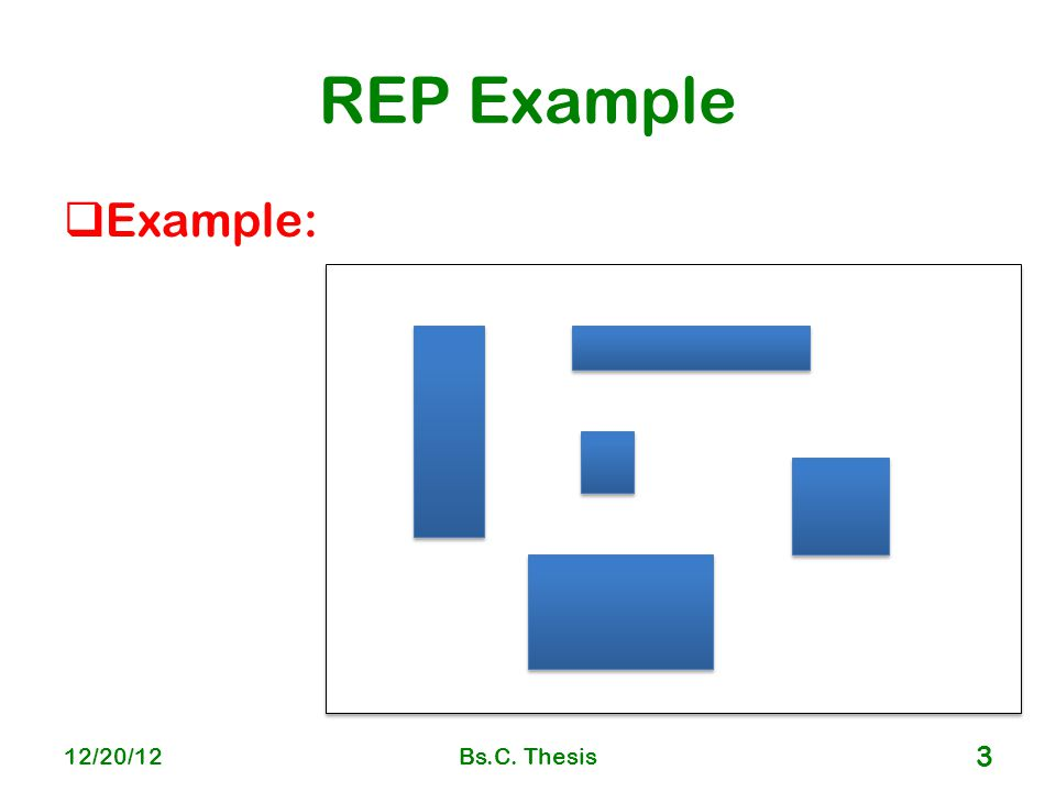 REP Example  Example: 12/20/12Bs.C. Thesis 3