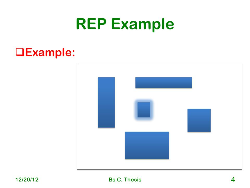 REP Example  Example: 12/20/12Bs.C. Thesis 4