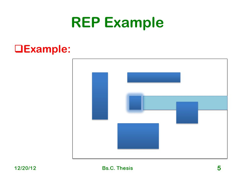 REP Example  Example: 12/20/12Bs.C. Thesis 5