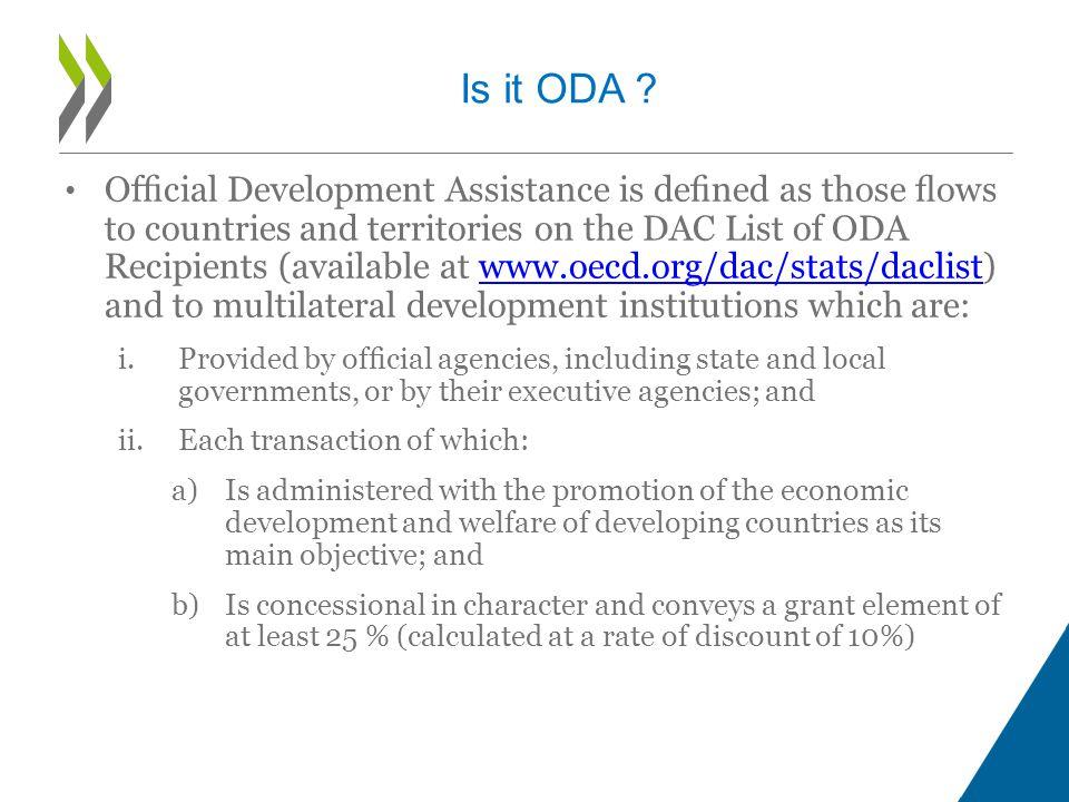 Is it ODA .