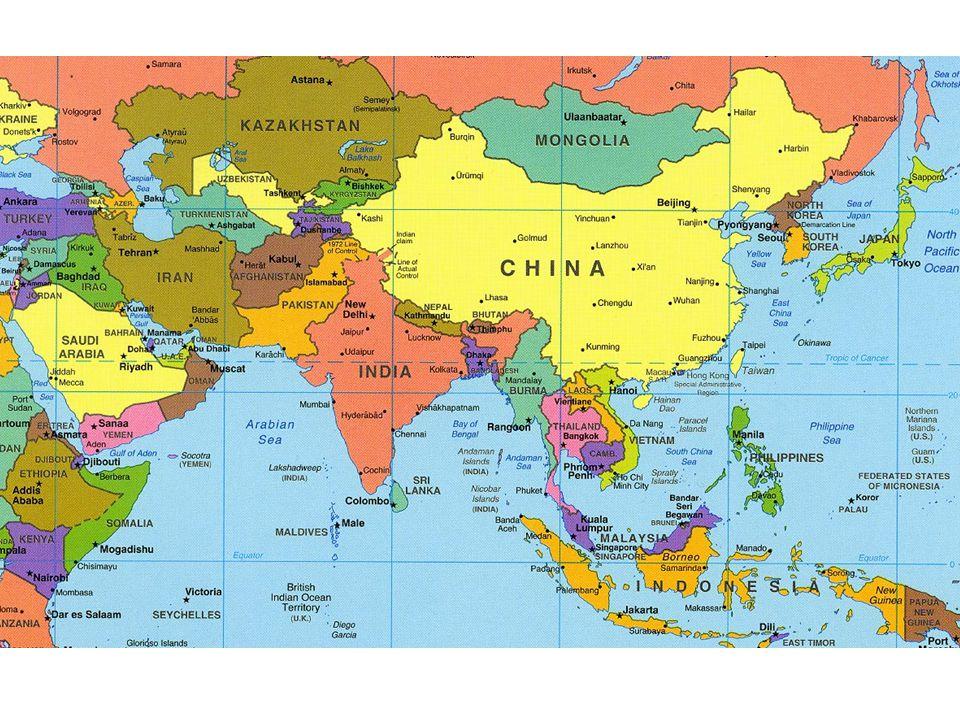 ASIA West Asia/Central Asia South Asia Southeast Asia East Asia