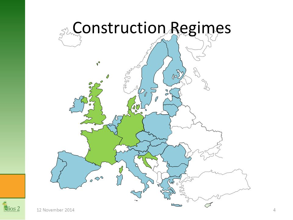 12 November 20144 Construction Regimes