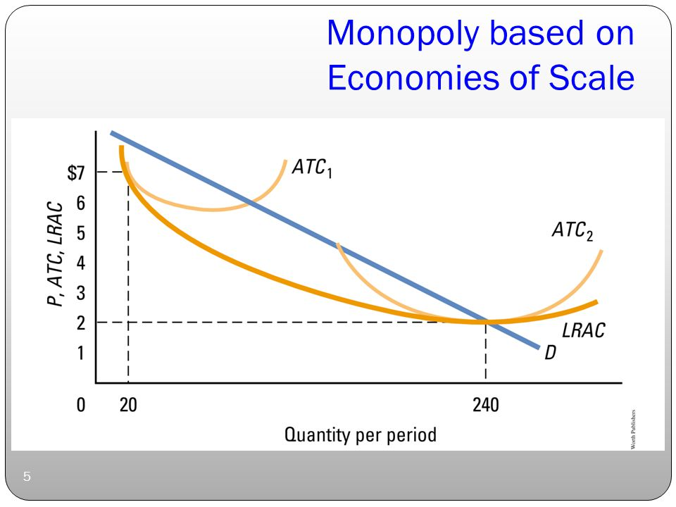 Monopoly based on Economies of Scale 5