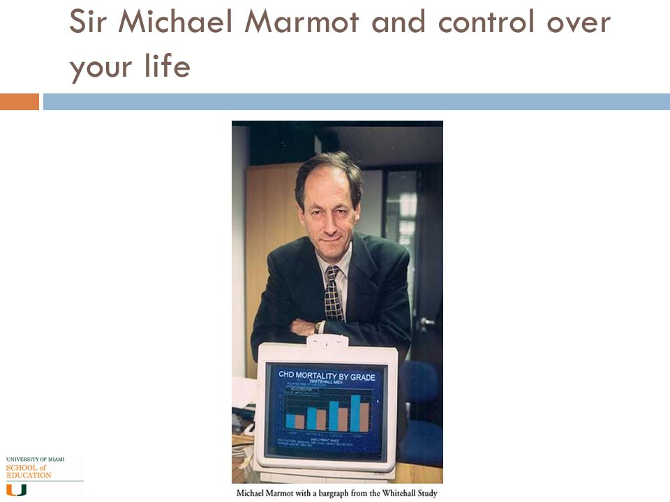 Sir Michael Marmot and control over your life