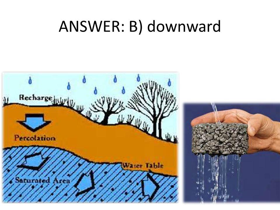 ANSWER: B) downward