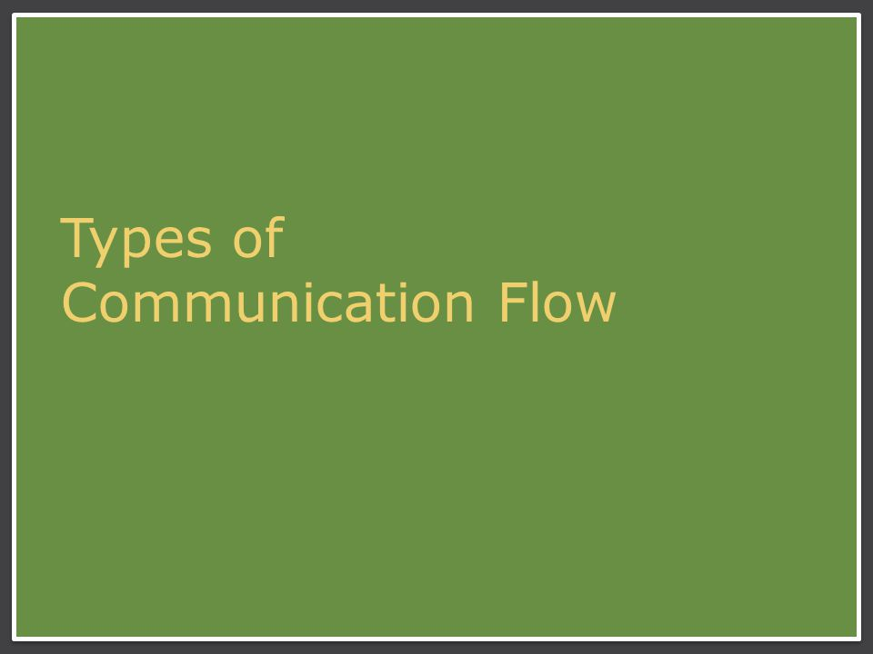 Types of Communication Flow