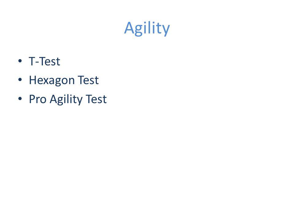 Agility T-Test Hexagon Test Pro Agility Test