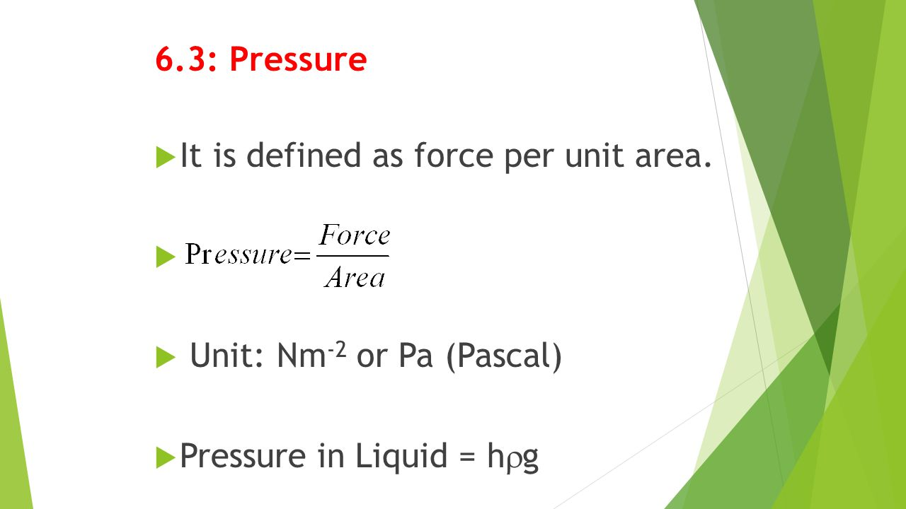 6.4: Upthrust in Fluids  When an object is immersed in fluid, the upthrust is equals to the weight of the displaced fluid.