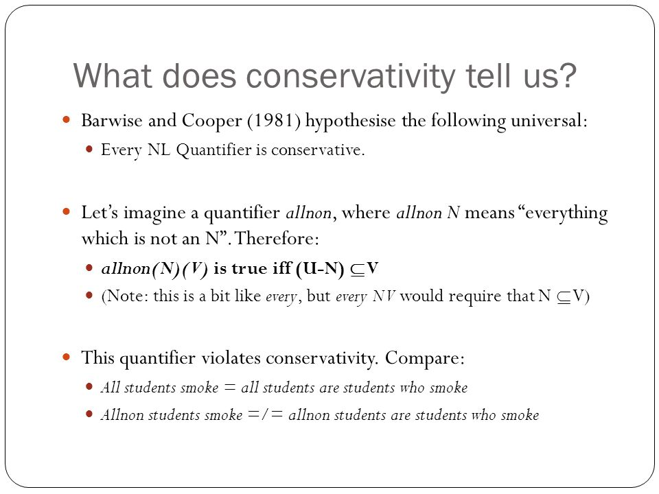 What does conservativity tell us.