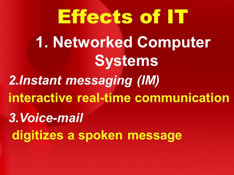 Effects of IT 1.