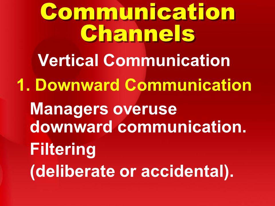 Communication Channels Vertical Communication 1.