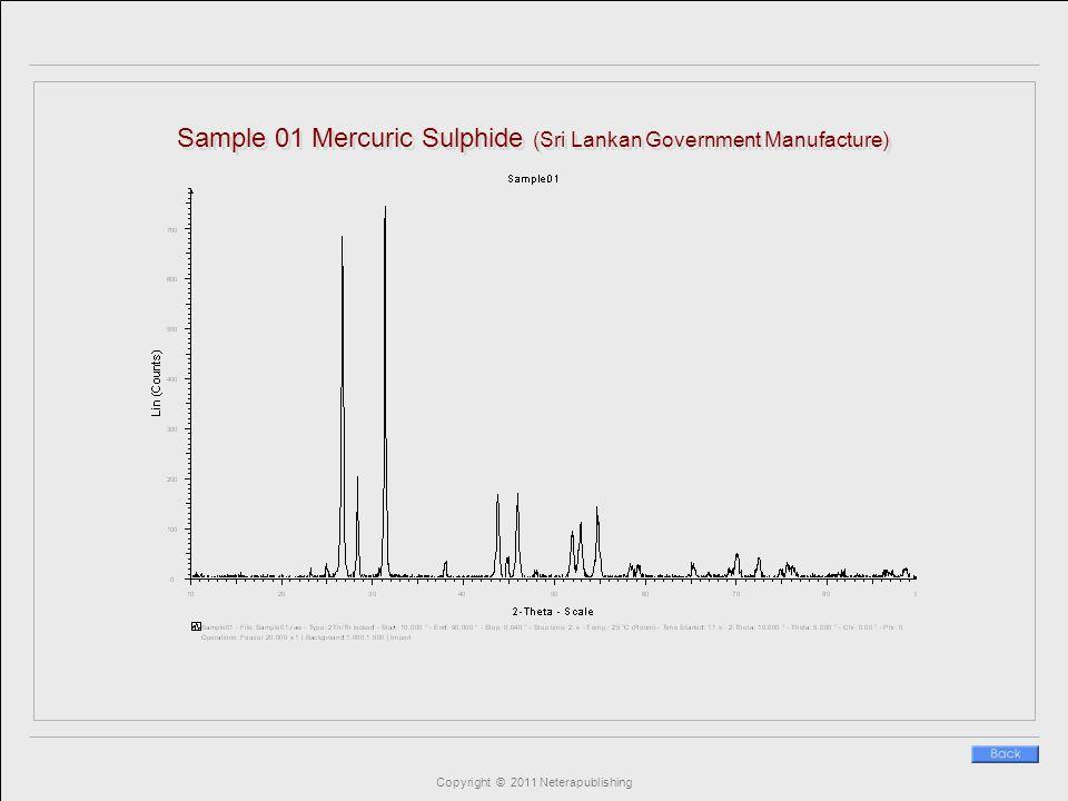 Copyright © 2011 Neterapublishing Sample 01 Mercuric Sulphide (Sri Lankan Government Manufacture)