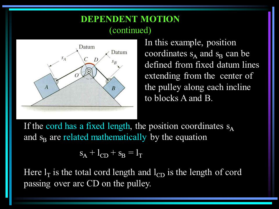 CONCEPT QUIZ 1.Determine the speed of block B. A) 1 m/sB) 2 m/s C) 4 m/sD) None of the above.