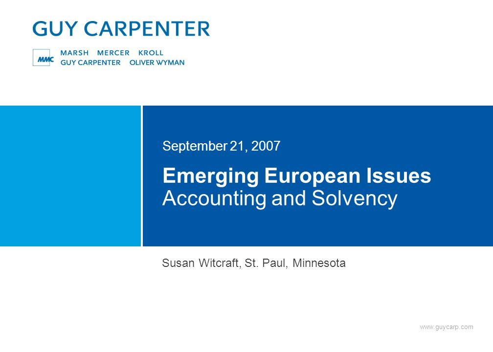 Emerging Accounting Issues