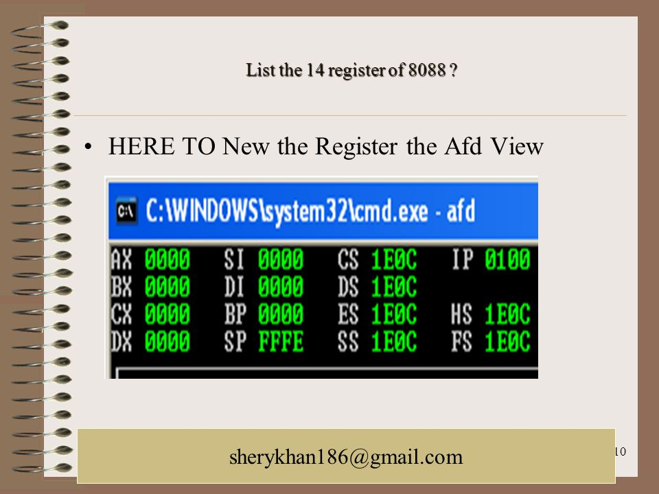 October 21, 2005LACUNY Web Roundtable galina.letnikova@lehman.cuny.edu 10 List the 14 register of 8088 ? HERE TO New the Register the Afd View sherykh