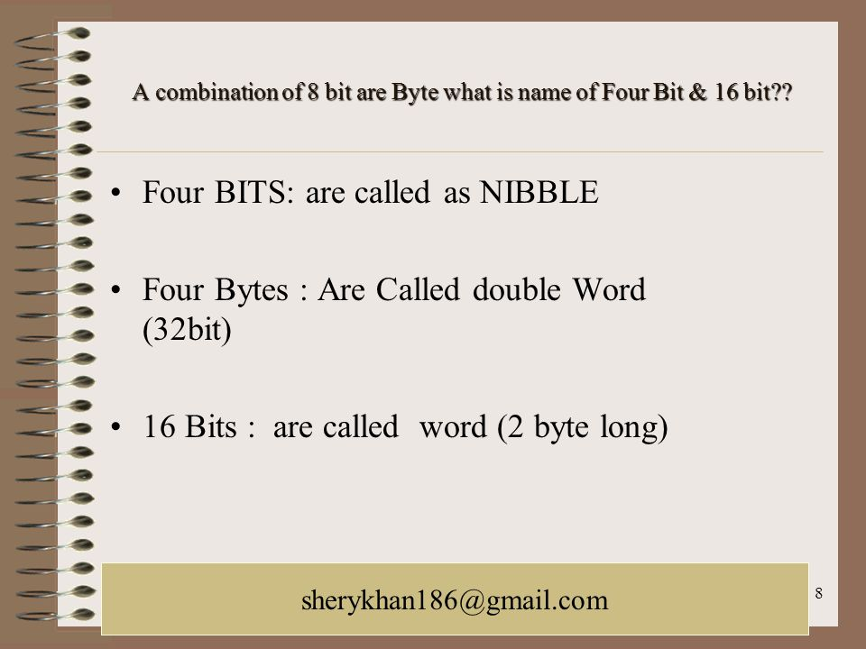 October 21, 2005LACUNY Web Roundtable galina.letnikova@lehman.cuny.edu 8 A combination of 8 bit are Byte what is name of Four Bit & 16 bit?? Four BITS