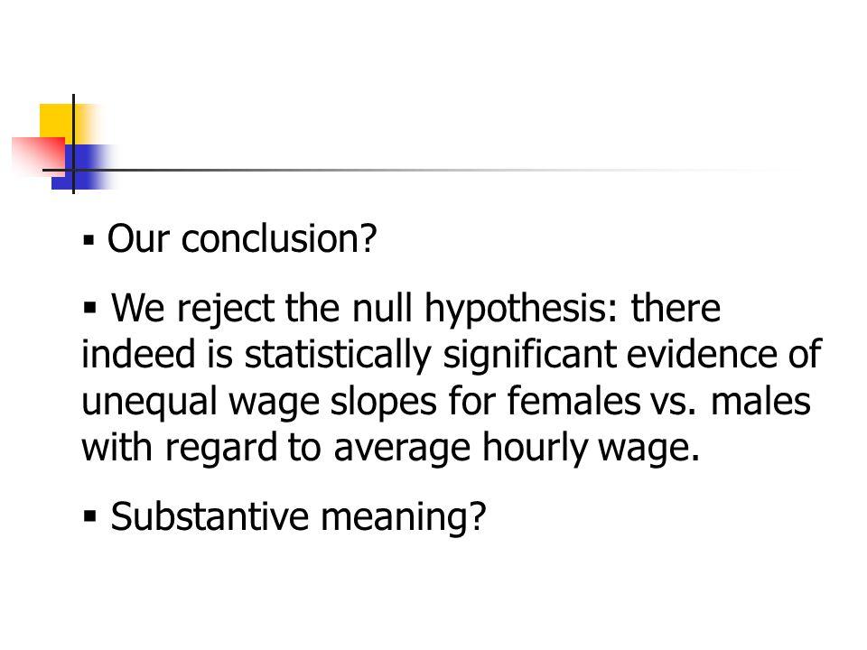  Our conclusion.