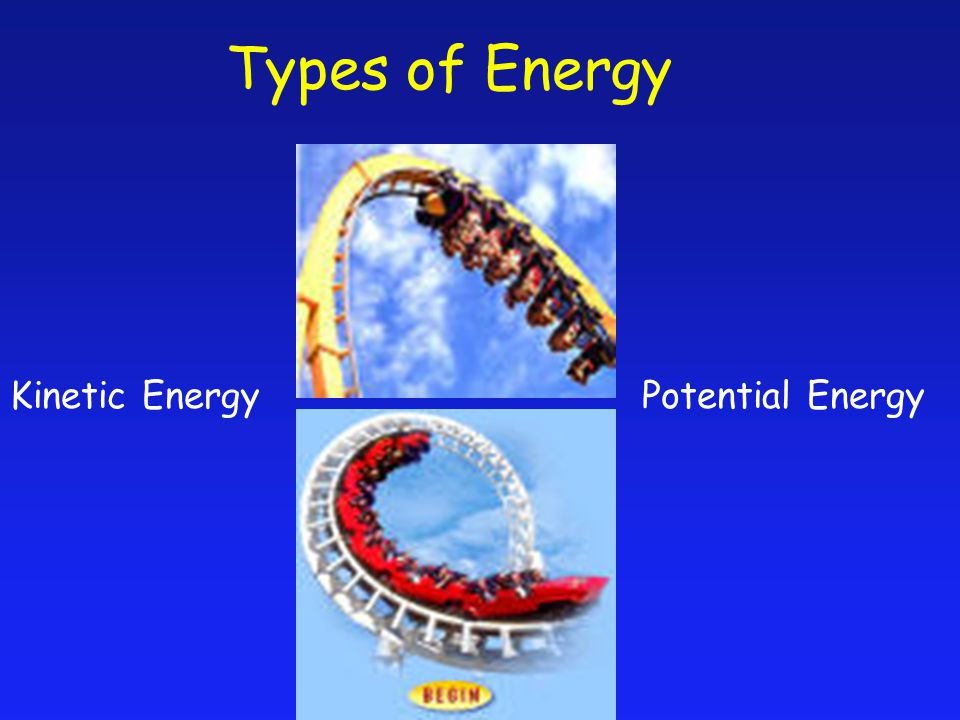 Kinetic EnergyPotential Energy Types of Energy