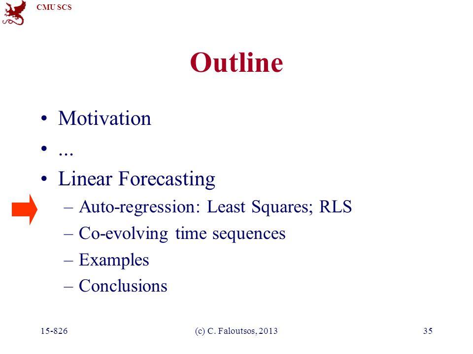 CMU SCS 15-826(c) C. Faloutsos, 201335 Outline Motivation...