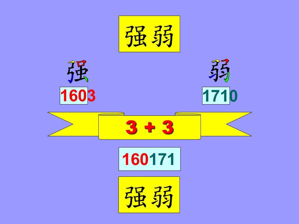 3 + 3 1710 1603 160171