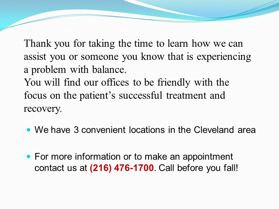 We have 3 convenient locations in the Cleveland area For more information or to make an appointment contact us at (216) 476-1700.