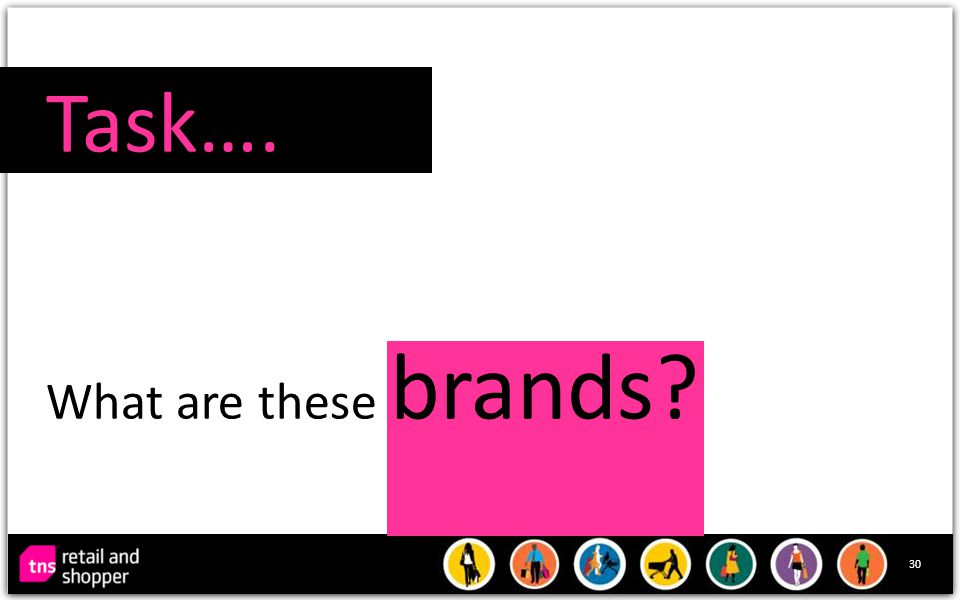 30 Task…. What are these brands