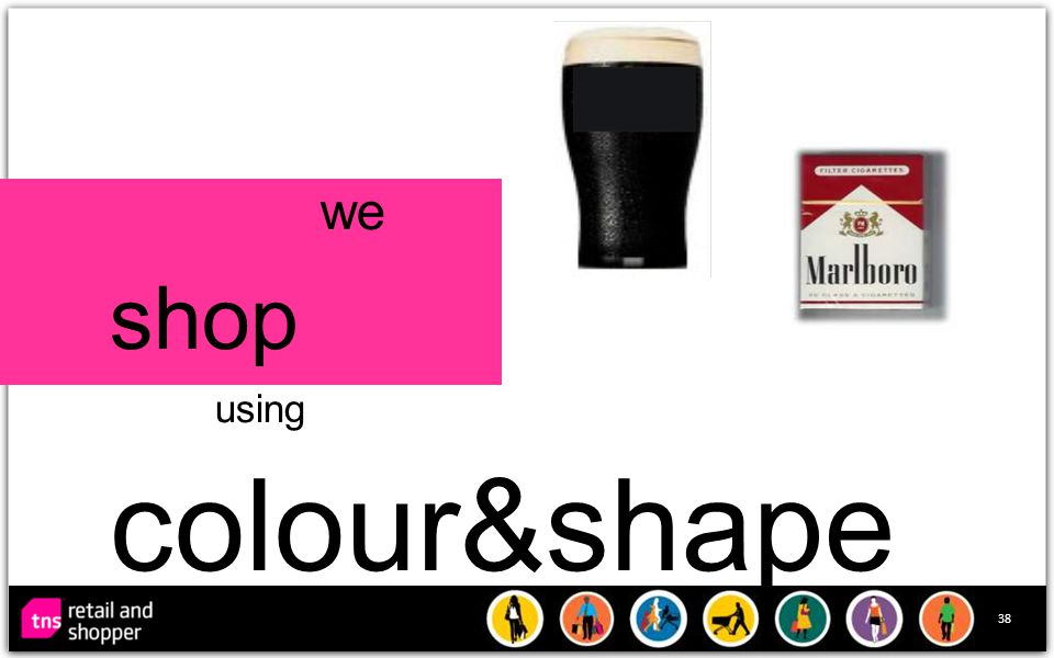 38 we shop using colour&shape
