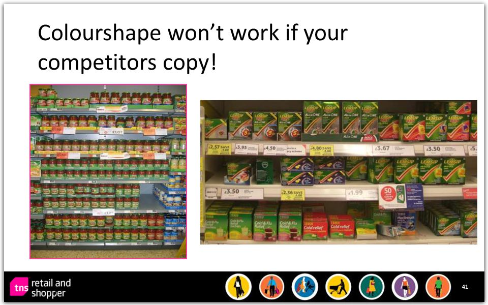 41 Colourshape won't work if your competitors copy! 41