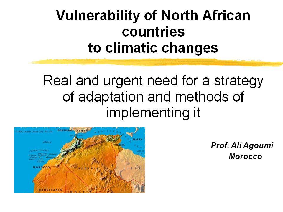 Prof. Ali Agoumi Morocco (Algeria, Morocco, and Tunisia)