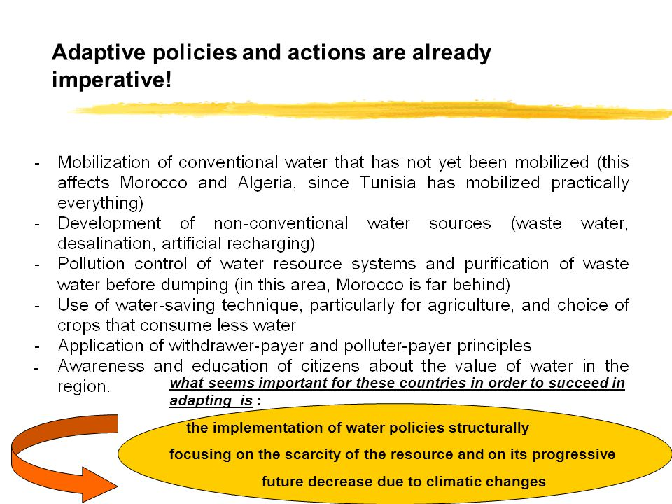 Adaptive policies and actions are already imperative.