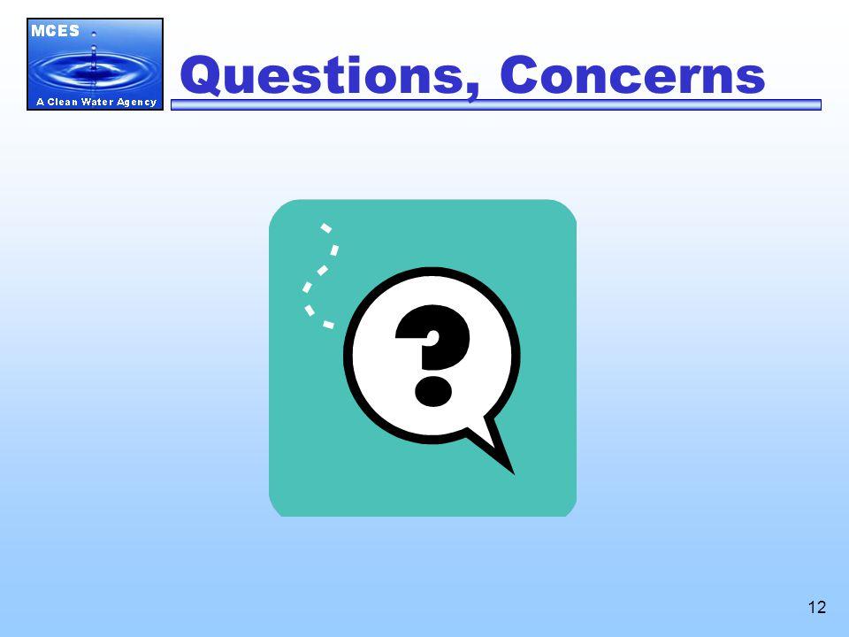 12 Questions, Concerns